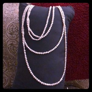 """120"""" Freshwater pearl necklace!!!"""
